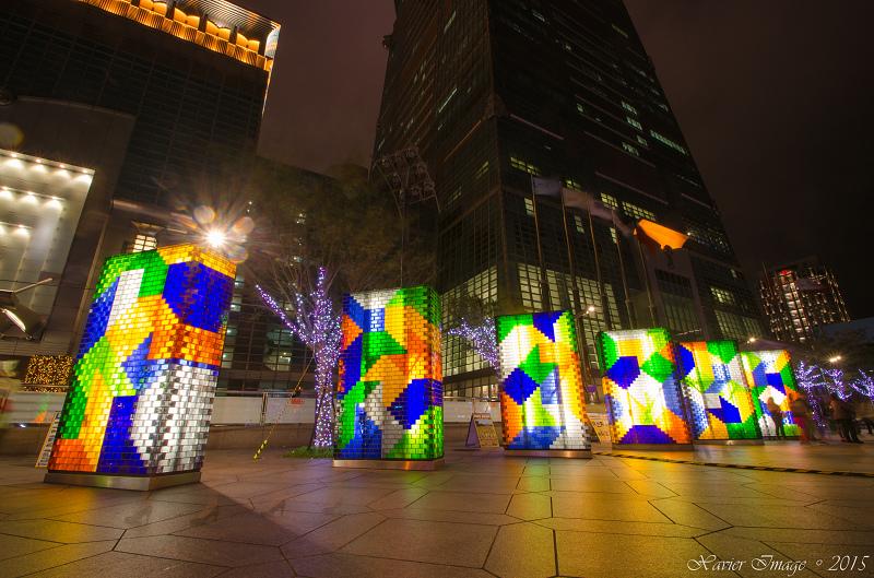 台北信義區夜景聖誕燈飾_台北101 2
