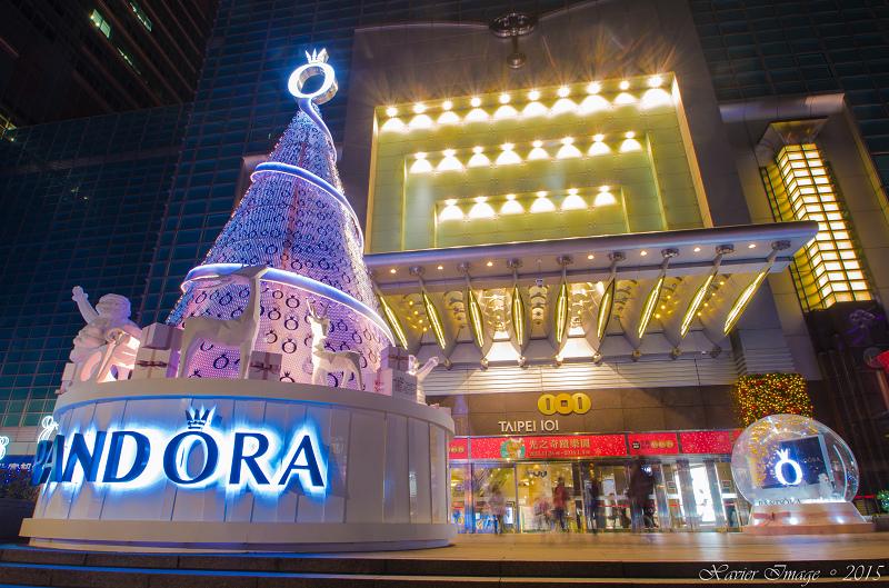 台北信義區夜景聖誕燈飾_台北101 6