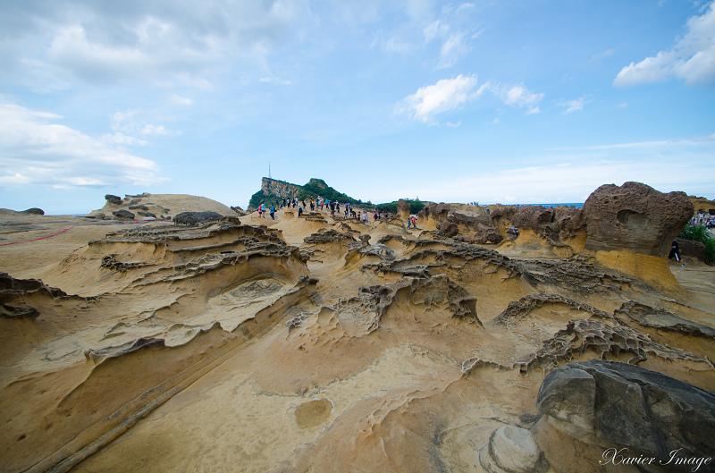 野柳地質公園_蜂窩岩和風化窗
