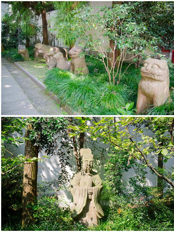 杭州西湖岳王廟_岳飛紀念館石像