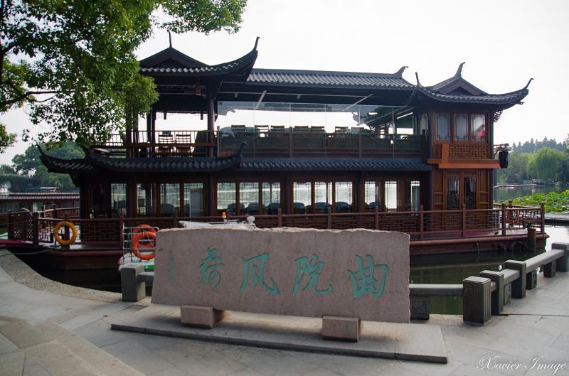 杭州西湖岳王廟_印象西湖畫舫