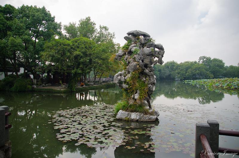 杭州西湖三潭印月_九獅石