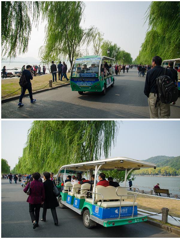 杭州西湖_環湖電瓶車