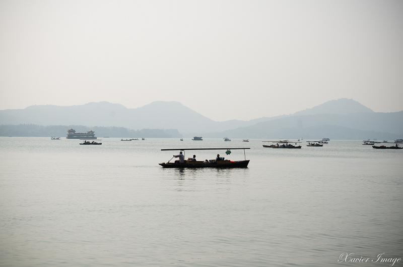 杭州西湖_白堤_船