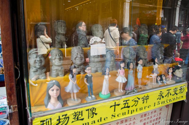 杭州河坊街_泥塑像