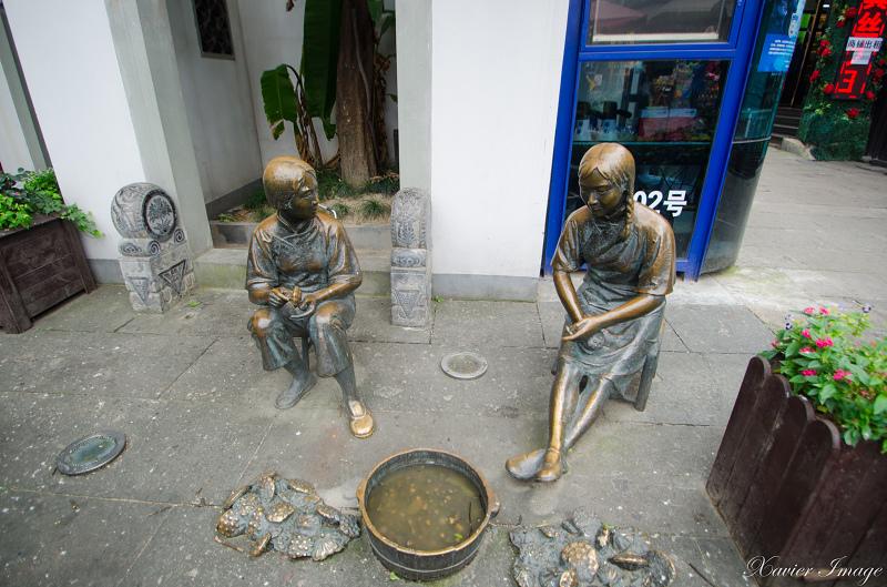 杭州河坊街_銅像 2