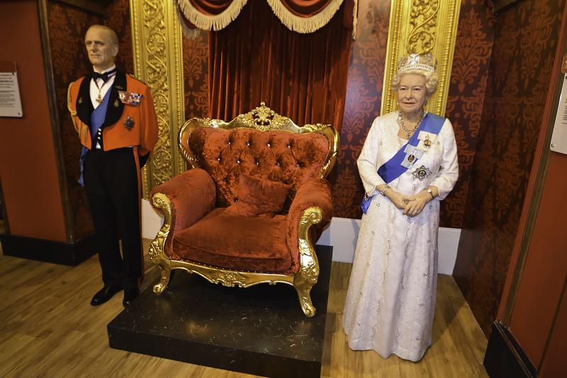 香港太平山杜莎夫人蠟像館_伊莉莎白二世_菲利普親王