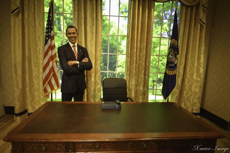 香港太平山杜莎夫人蠟像館_美國總統歐巴馬