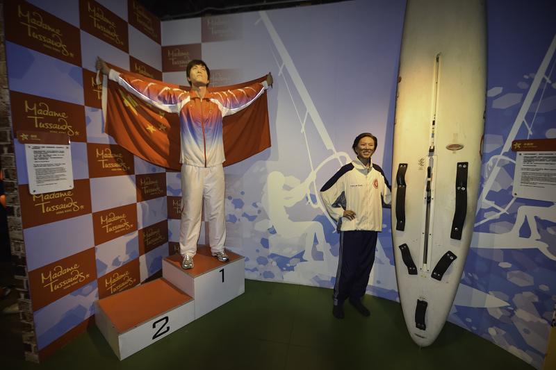 香港太平山杜莎夫人蠟像館_劉翔_李麗珊