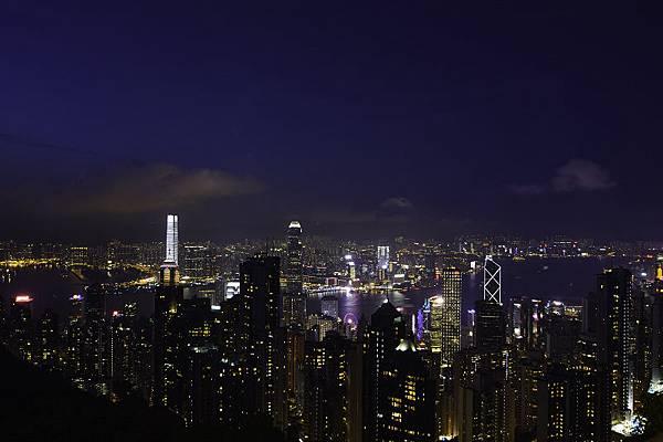 香港太平山頂夜景