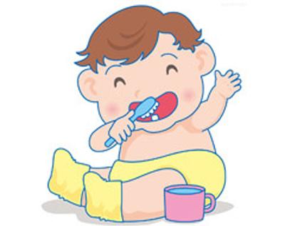 baby刷牙卡通圖