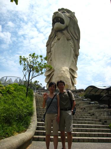 20070917 聖淘沙魚尾獅塔-蘭Shozi