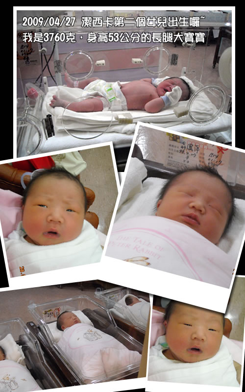 寶寶的出生相片