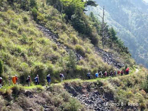 前往排雲山莊的山腰路