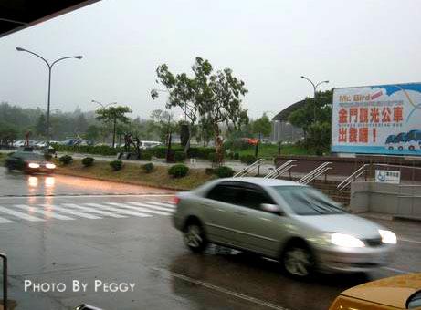 金門下大雨了!