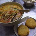 泰式小食館 -- 炸蝦餅冬陰功湯金邊粉