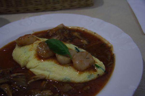 L'Omelette -- 扇貝菠菜蛋包