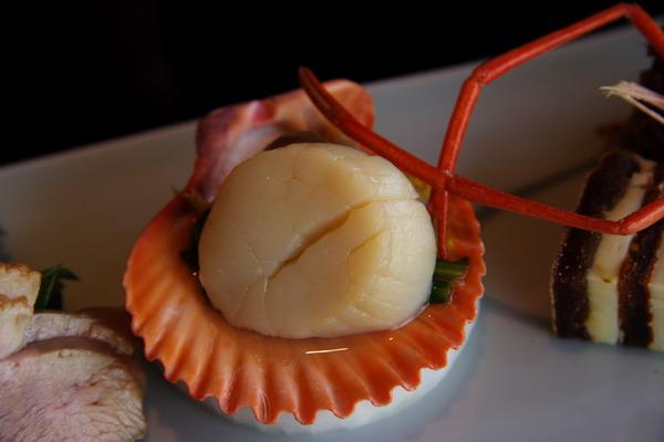 南禪寺順正 -- 前菜之扇貝