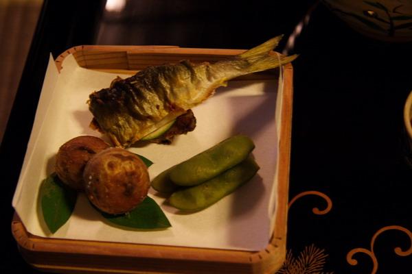 瓢亭 -- 先付之燒魚及小芋頭