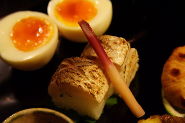 瓢亭 -- 八寸之かます寿司