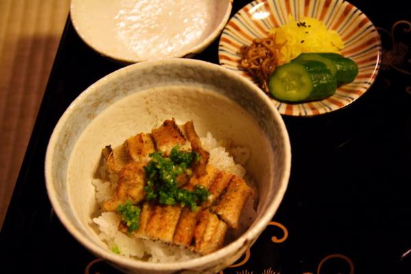 瓢亭 -- 食事