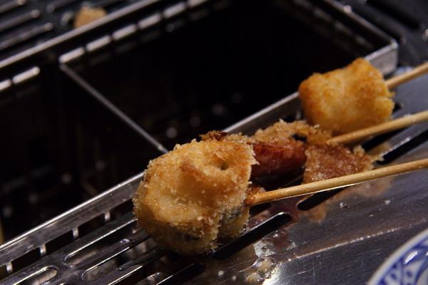 神樂食堂 串家物語 -- 紫蘇魚卷、豬五花肉