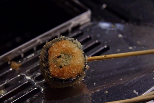 神樂食堂 串家物語 -- 海苔秋葵魚糕卷