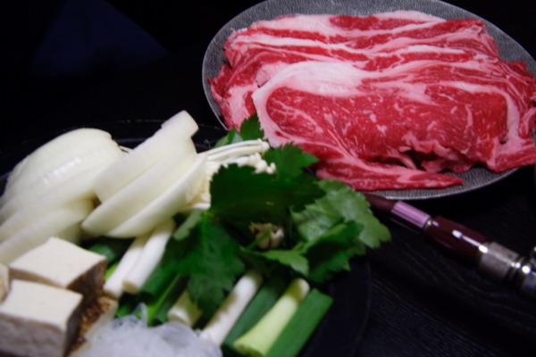 すきやきいろは -- 牛肉 & 蔬菜