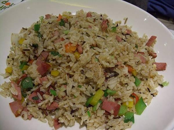 菓一道 -- 薑蔥帶子煙鴨胸菇粒炒糙米飯