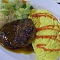 Cafe Cardinal -- 漢堡扒蛋包飯