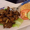 味佳居 -- 牛肉粒配紅飯
