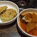 莊園 -- 煎茄子 & 辣煮蘿蔔秋刀魚