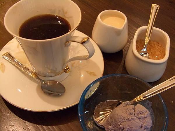 鮨松戶 -- 咖啡及香芋冰淇淋