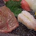 袖山 -- 灸燒霜降牛肉 & 牡丹蝦
