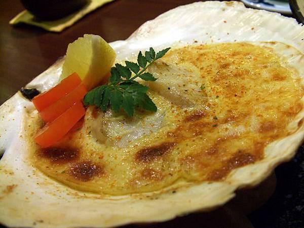 月の麗鮨旬菜 -- 扇貝北海燒 (燒物)