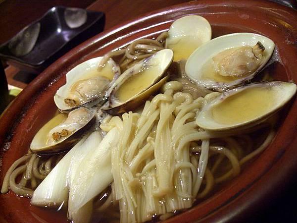 月の麗鮨旬菜 -- 蜆肉蕎麥麵 (食事)