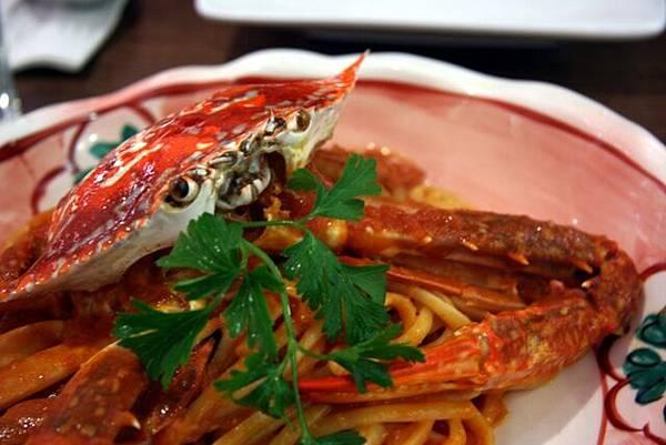 銀座藏人 -- 蕃茄醬蟹肉意大利麵