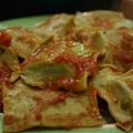 平安夜宴 2005 -- 蕃茄燴意式菠菜起司雲吞