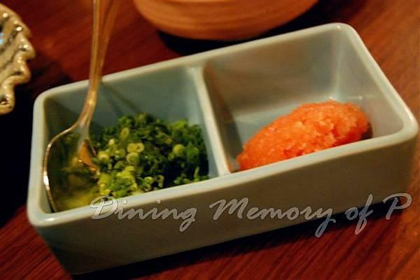 禪八 -- 青蔥 & 蘿蔔泥