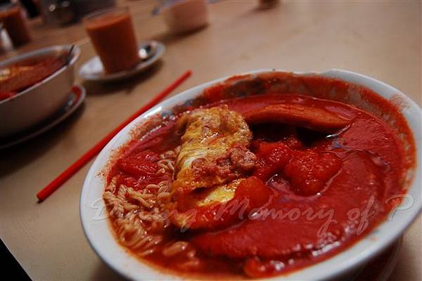 勝香園 -- 蕃茄餐肉碎牛蛋麵