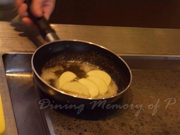 一月 -- 以奶油煎蘋果