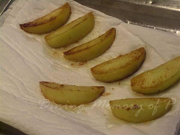 一月 -- 把焦糖蘋果擱油備用