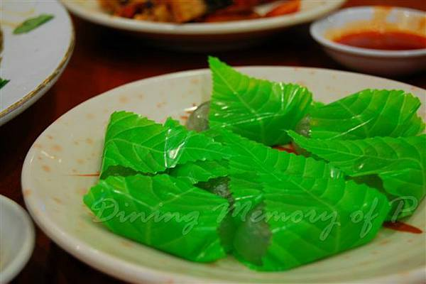 得龍大飯店 -- 綠茶水晶糕