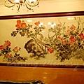 陸羽茶室 -- 牆上的花卉圖