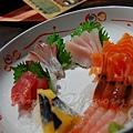 一生 -- 剌身併盤 (甘蝦、子持希靈魚、鮪魚、紅魽、旗魚、鮭魚)