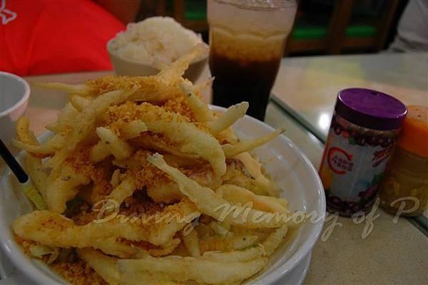 張仔美食館 -- 椒鹽白飯魚 & 鮮魷