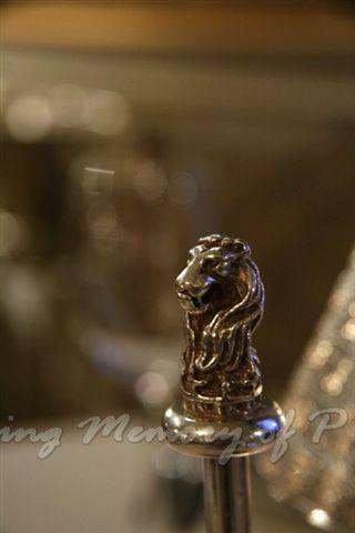 Toscana -- 調味架上的銀獅子