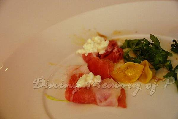 Aspasia -- Parma & Culatello 火腿 配 菊芋起司小雲吞