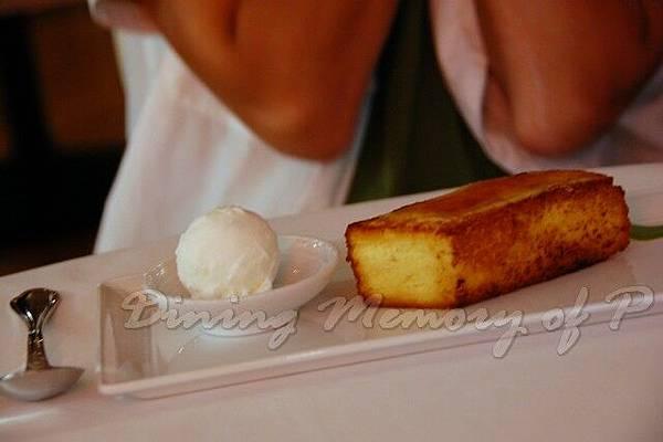 Aspasia -- 奶油麵包伴羊奶起司冰淇淋