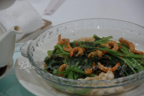 帝苑軒 -- 馬拉盞蝦乾吊片炒通菜